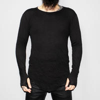 BORIS BIDJAN SABERI / SS13 Wrinkle double layer LS T-shirt