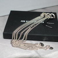 ANN DEMEULEMEESTER / Silver multi chain necklace (UNI)