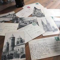 フランス アンティーク ポストカード 1930年代 Used 12枚Set