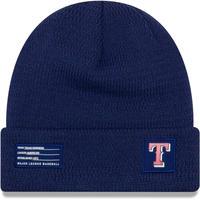 NEWERA ニューエラ MLB ニット帽 Texas テキサス Rangers レンジャーズ 青 USA正規品 メジャーリーグ YOUTH 防寒