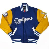 NEGRO LEAGUE 二グロリーグ Newark ニューアーク Dodgers ドジャース Varsity バーシティジャケット スタジアムジャンパー 青 黄色