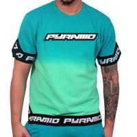 日本未入荷 BLACK PYRAMID ブラックピラミッド DIP DYE タイダイ 半袖 スウェットトレーナー Tシャツ 緑 グラデーション