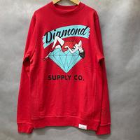 Diamond Supply ダイヤモンドサプライ Vices クルーネック スウェット トレーナー ピスタグ付き  赤