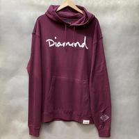 ダイヤモンドサプライ Diamond supply co. スウェット OG SCRIPT プルオーバー パーカー LA バーガンディ