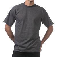 【全国どこでも送料無料】米国製 PROCLUB プロクラブ HEAVY WEIGHT ヘビーウェイト Tシャツ 無地 USA 西海岸 LA チャコールグレー Charcoal 6.5 OZ