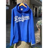 マジェスティック Majestic ロサンゼルス LA ドジャース Dodgers プルオーバー パーカー 青 MLB メジャーリーグ 裏起毛