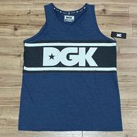 【XL】 ロサンゼルス発祥 DGK ディージーケー タンクトップ 青 インディゴ