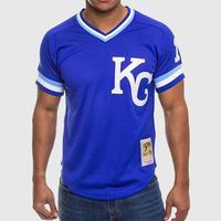 Mitchell&Ness ミッチェル&ネス MLB バッティングプラクティス BPジャージ 公式 カンザスシティ Royals ロイヤルズ #16 Vネック 青 ユニフォーム