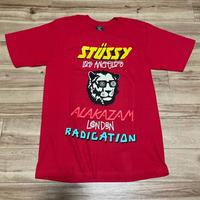 【S】Stussy ステューシー Alakazam アラカザム 半袖 ワールドツアーTシャツ 赤 ストリート 西海岸 スケーター 綿100%  (40)