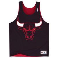 USA限定 Mitchell&Ness ミッチェル&ネス NBA リバーシブル reversible メッシュ タンクトップ Chicago シカゴ Bulls ブルズ 黒/赤 ビブス バスケシャツ