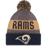 NEWERA ニューエラ LA ロサンゼルス Rams ラムズ NFL 公式 ニット帽 ポンポン 公式 ニットキャップ 極暖 フリース アメフト