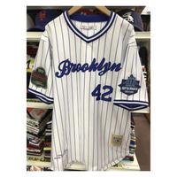 NEGRO LEAGUE『ブルックリン ロイヤル ジャイアンツ』  公式 ベースボールシャツ ユニフォーム  Vネック ストライプ 正規品 42 野球