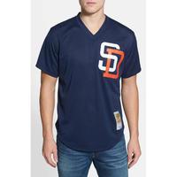 Mitchell&Ness ミッチェル&ネス MLB バッティングプラクティス BPジャージ 公式 サンディエゴ PADRES パドレス Vネック #19 ユニフォーム 紺