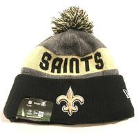 NEWERA ニューエラ NewOrleans ニューオリンズ Saints セインツ NFL 公式 ニット帽 ポンポン 公式 ニットキャップ 極暖 フリース アメフト