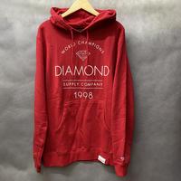 【M】 ダイヤモンドサプライ Diamond supply co. スウェット 赤 プルオーバー パーカー LA ワールドチャンピオン WorldChampion