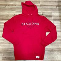 【M】 Diamond Supply Co. ダイヤモンドサプライ  Brilliant プルオーバー パーカー 赤 (p3)