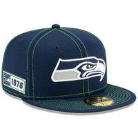 限定 100周年記念モデル NEWERA ニューエラ Seahawks シアトル シーホークス 紺 59Fifty キャップ 帽子 NFL アメフト USA正規品