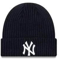 NEWERA ニューエラ NY ニューヨーク Yankees ヤンキース ニット帽 ニットキャップ 紺 クラシック ケーブル編み フリース MLB