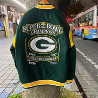 NLF公認  JHデザイン Packers グリーンベイ パッカーズ 限定 チャンピオンズ リバーシブル スタジャン