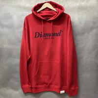 ラスト1  【XL】 ダイヤモンドサプライ Diamond supply co. スウェット 赤 プルオーバー パーカー LA ベーシックロゴ 裏起毛