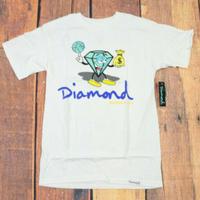 【S】 Diamond Supply Co ダイヤモンドサプライ 半袖 Tシャツ Money  白 LA ストリート スケーター