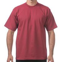 【全国どこでも送料無料】米国製 PROCLUB プロクラブ HEAVY WEIGHT ヘビーウェイト Tシャツ 無地 USA 西海岸 LA ワイン色 バーガンディ 6.5 OZ 綿100%