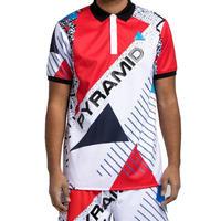 日本未入荷 BLACK PYRAMID ブラックピラミッド BP Geometric Polo 半袖 ポロシャツ 赤
