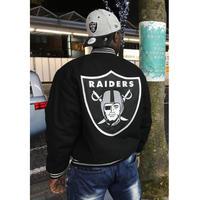 JHデザイン NFL オークランド レイダース RAIDERS リバーシブル スタジアムジャンパー アメフト 黒 スタジャン