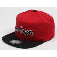 USA正規品 NIKE ナイキ AIR JORDAN エア ジョーダン Pro Script 2トーン 赤 GYM RED 黒 スクリプト スナップバックキャップ