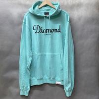 ダイヤモンドサプライ Diamond supply co. スウェット Champagne プルオーバー パーカー LA ダイヤモンドブルー 水色