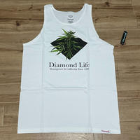 【L】 米国製 ダイヤモンドサプライ Diamond Supply Co タンクトップ 白 Homegrown  ストリート (TT3)