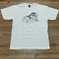 【XL】 Stussy USA ステューシー 半袖 Tシャツ 白 ホワイト RAT PATROL スケーター 王冠 ストリート カルフォルニア 綿100% (2)