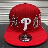 USA限定 Newera ニューエラ 9FIFTY ペイズリー スナップバック MLB フィリーズ Phillies