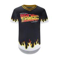 【SALE】 USA限定  BlackKyes ブラックキーズ 野球 ベースボールシャツ Vネック BackToTheGrind 黒 ゴールド USA正規品 SF BTTF