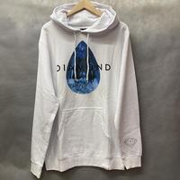 ラスト1  【L】 ダイヤモンドサプライ Diamond supply co. スウェット 白 プルオーバー パーカー LA ブルーダイヤ ティアドロップ