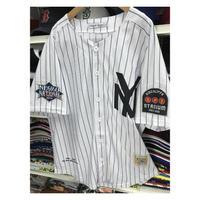 NEGRO LEAGUE『ブラック ヤンキース』 公式 ベースボールシャツ NY ユニフォーム  ナンバリング 2 野球 白 黒ストライプ