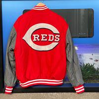 MLB公認 JH DESIGN  JHデザイン シンシナティ レッズ Reds リバーシブル スタジアムジャケット スタジャン 赤 グレー メジャーリーグ