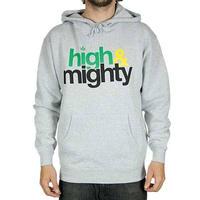 NY発 Mighty Healthy マイティーヘルシー HighMighty ハイマイティ プルオーバー パーカー 黒 ラスタカラーグレー