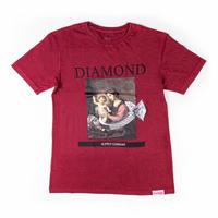 【3XL】 Diamond Supply Co ダイヤモンドサプライ 半袖 Tシャツ 13th Century  バーガンディ タイダイ LA ストリート スケーター