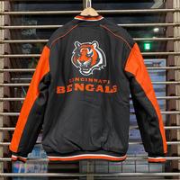 NLF公認 JH DESIGN  JHデザイン Bengals シンシナティ ベンガルズ 黒 オレンジ NFL リバーシブル スタジアムジャケット スタジャン