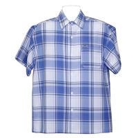 アメリカ製 CALTOP キャルトップ SKY スカイブルー×白 チェックシャツ 半袖 ボタンアップ