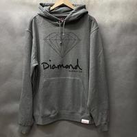 【3XL】 ダイヤモンドサプライ Diamond supply co. スウェット OG SIGN プルオーバー パーカー LA ガンメタ グレー 赤ピスタグ