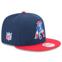 USA正規品 NFL ニューエラ NEWERA 旧ロゴ ニューイングランド Patriots ペイトリオッツ 紺 スナップバック 9Fifty アメフト 調節可 キャップ Baycik 2トーン