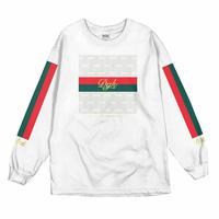 DGK ディージーケー 長袖 Tシャツ ロンT LUX ラグジュアリー モノグラム 白 ホワイト 西海岸 ストリート