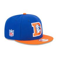 USA正規品 NFL ニューエラ NEWERA 旧ロゴ デンバー Broncos ブロンコス 青 スナップバック 9Fifty アメフト 調節可 キャップ Baycik 2トーン