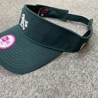 Women サンバイザー NEWERA ニューエラ Athletics オークランド アスレチックス MLB メジャー Essential サイズ調節可 紫外線カット USAオフィシャル