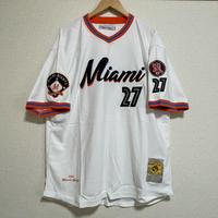 二グロリーグ NEGRO 『マイアミ ジャイアンツ』 Miami Ginats プルオーバー ユニフォーム Vネック 正規品 #27 野球 ベースボールシャツ