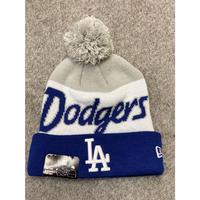 NEWERA ニューエラ LA ロサンゼルス Dodgers ドジャース ニット帽 ポンポン付 ニットキャップ MLB メジャーリーグ 青 グレー