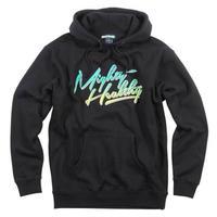 NY発 Mighty Healthy マイティーヘルシー  HellTruck ヘルトラック プルオーバー パーカー 黒 ブラック HIPHOP ストリート