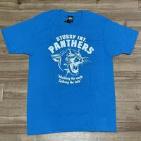 【M】 Stussy ステューシーPANTHERS パンサー 半袖 グラフィック Tシャツ 青 ブライトブルー 西海岸 ストリート  (60)